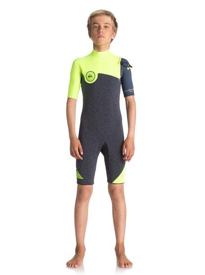 2/2mm Highline series - springsuit manches courtes sans zip pour garçon - noir - quiksilver
