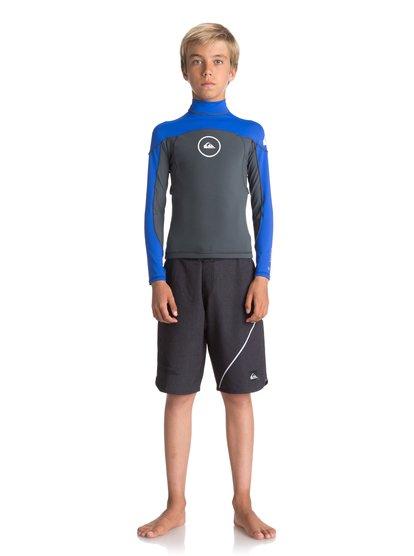 1mm Syncro series - haut manches longues en néoprène pour garçon 8-16 ans - noir - quiksilver