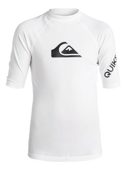 All Time - Lycra manches courtes UPF 50 pour Garçon - Blanc - Quiksilver