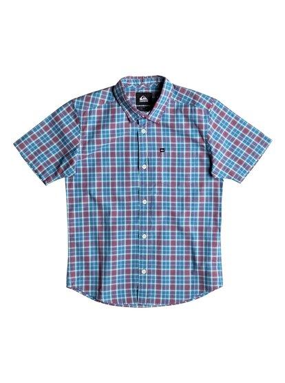 Everyday Check - Chemise manches courtes pour garçon - Bleu - Quiksilver