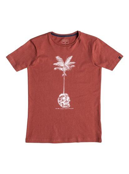 Carbon Cranium - T-Shirt for Boys - Red - Quiksilver