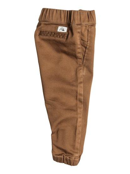 Babys Fonic  JoggersДетские штаны Fonic от Quiksilver. <br>ХАРАКТЕРИСТИКИ: эластичный пояс и края штанин, черный пояс на утяжке, эластичная хлопчатобумажная саржа, узкий крой. <br>СОСТАВ: 99% хлопок, 1% эластан.<br>