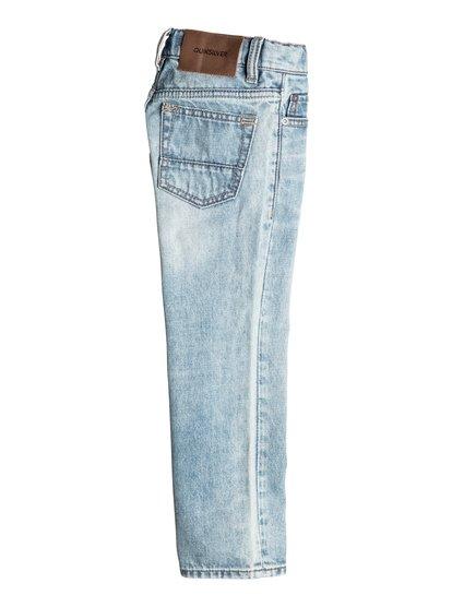 Boys Sequel Dust Bowl Regular Fit JeansДжинсы стандартного кроя для мальчиков Sequel Dust Bowl от Quiksilver. <br>ХАРАКТЕРИСТИКИ: классические пять карманов, ширинка на пуговицах, хлопчатобумажная ткань, ткань плотностью 340 г/кв. м. <br>СОСТАВ: 100% хлопок.<br>