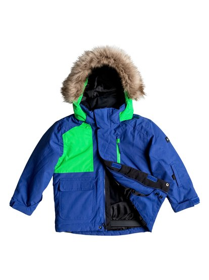 Сноубордическая куртка FlakesThe Flakes snow jacket with mitt keeper system features Warmflight® insulation level 3 to keep little groms cosy on the coldest winter days. The taffeta and tricot lining is warm and soft on the inside while critically-taped seams offer extra protection against the elements on the most exposed areas.<br>