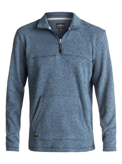 Waterman Mormont - Sweatshirt à zip 3/4 pour Homme - Bleu - Quiksilver
