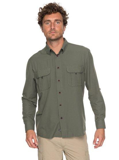 Waterman Trailblazing - chemise à manches longues pour homme - vert - quiksilver