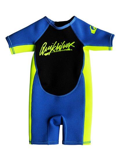 1.5mm Syncro - springsuit manches courtes back zip pour bébés - bleu - quiksilver
