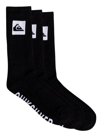 Quiksilver - mi-chaussettes pour homme - noir - quiksilver