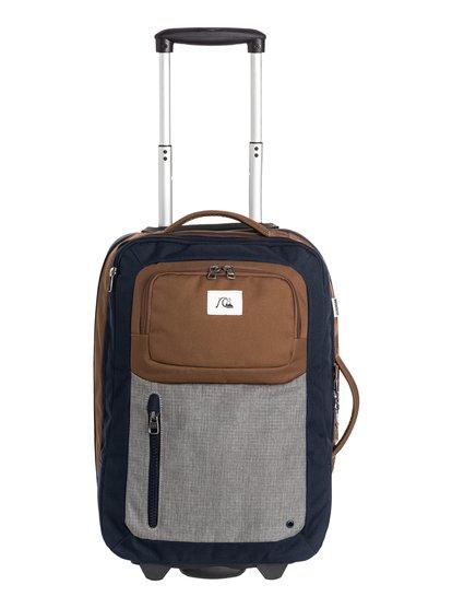 Mens Horizon Modern Original Wheeled SuitcaseМужской чемодан Horizon Modern Original Wheelie.ХАРАКТЕРИСТИКИ: полиэстер 600D, два основных отделения одно над другим, удобная набивная рукоятка и скейтовые колеса, ярлык Quiksilver, подходящий размер для ручной клади, телескопическая ручка, внутреннее отделение для ноутбука диагональю до 15 дюймов, удобный карман, легкая база, размер – 48 x 32 x 21 см, объем – 32 л, вес – 2.3 кг.СОСТАВ: 100% полиэстер.<br>