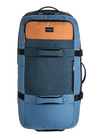 New Reach - grande valise à roulettes pour homme - bleu - quiksilver