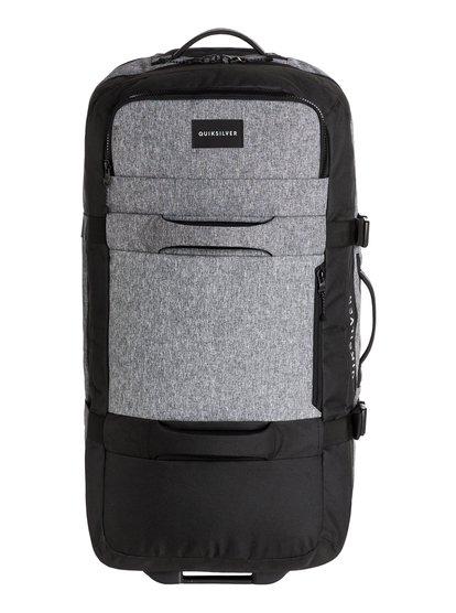 New Reach - grande valise à roulettes pour homme - gris - quiksilver