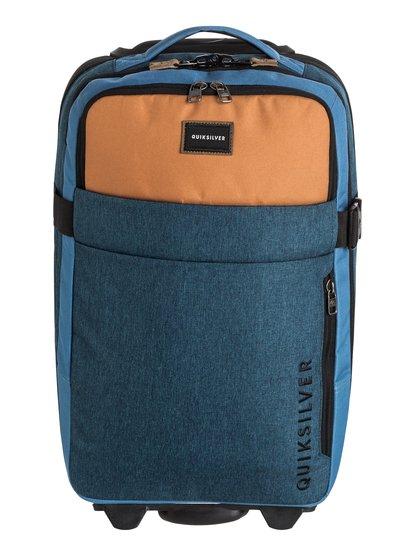 New Horizon - bagage cabine à roulettes pour homme - bleu - quiksilver