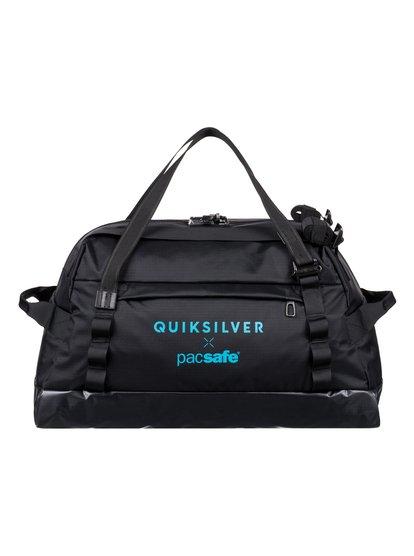 Pacsafe X qs 40l - grand sac de voyage étanche et antivol - noir - quiksilver