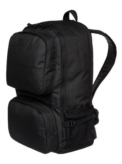 Mens Wedge BackpackМужской рюкзак Wedge от Quiksilver. <br>ХАРАКТЕРИСТИКИ: одно основное отделение, специальное отделение для ноутбука, передний карман с органайзером, отделение для охлаждения с внешним доступом. <br>СОСТАВ: 100% полиэстер.<br>