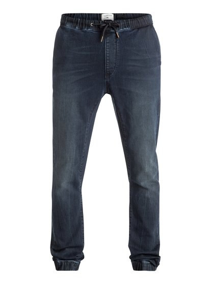 Fonic Blue Black - Slim Fit Denim Joggers  EQYDP03296