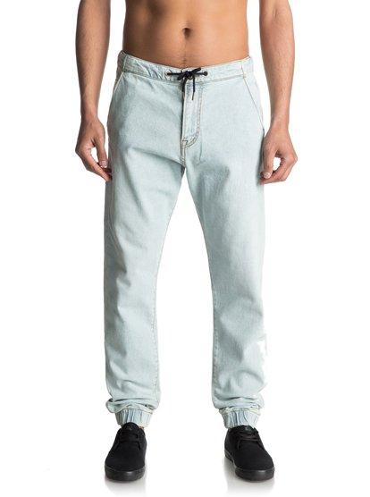 Bradfonic Bleached - pantalon de jogging en denim pour homme - bleu - quiksilver