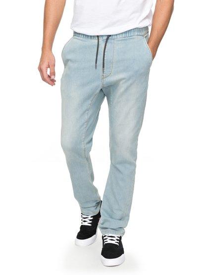 Fonic Bleached - pantalon de jogging en denim pour homme - bleu - quiksilver