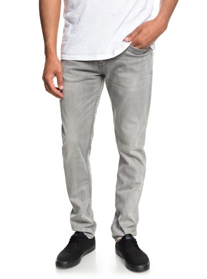 Distorsion Stone - jean slim pour homme - gris - quiksilver