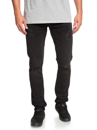 Distorsion Stranger black - jean slim pour homme - noir - quiksilver