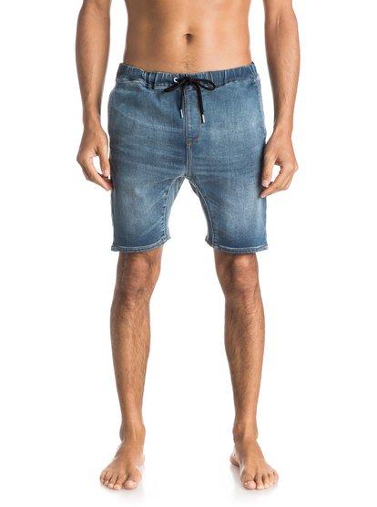 Джинсовые шорты Fonic Denim FleeceМужские джинсовые шорты Fonic Denim Fleece от Quiksilver.ХАРАКТЕРИСТИКИ: эластичный пояс, клиновидная вставка-ластовица, длина — 48,3 см (19), мягкий деним плотностью 255 г/кв. м.СОСТАВ: 83% хлопок, 15% полиэстер, 2% эластан.<br>