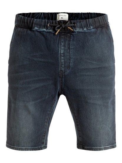 Fonic Blue Black - Denim Shorts  EQYDS03067