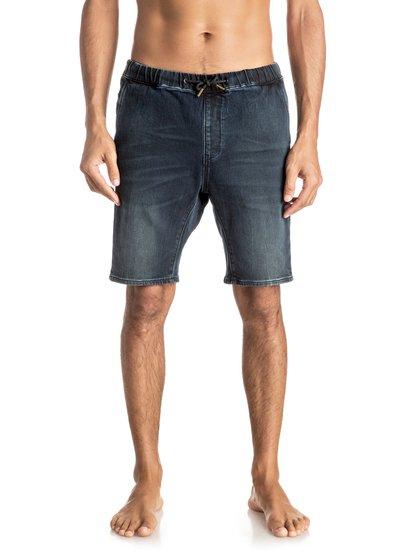 Fonic Blue Black - Denim Shorts