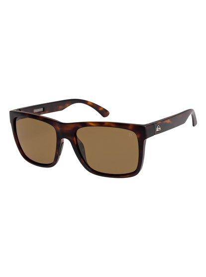 Charger - lunettes de soleil polarisées pour homme - marron - quiksilver