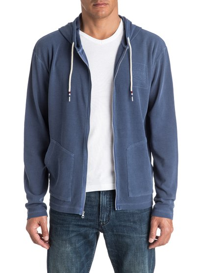 Arcadia Zee - sweat à capuche zippé pour homme - bleu - quiksilver