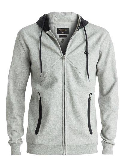 Active Nylon - sweat à capuche zippé pour homme - gris - quiksilver