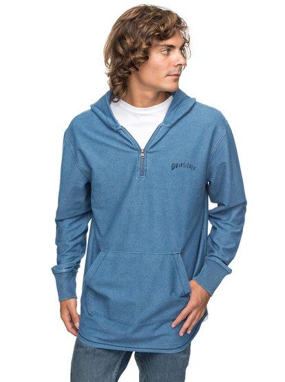 Desska - sweatshirt à capuche 1/2 zip pour homme - bleu - quiksilver