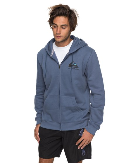 Authorized Dealers 2 - sweat à capuche zippé pour homme - bleu - quiksilver
