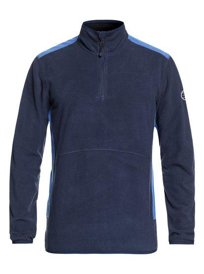 Aker - polaire demi-zip technique pour homme - bleu - quiksilver