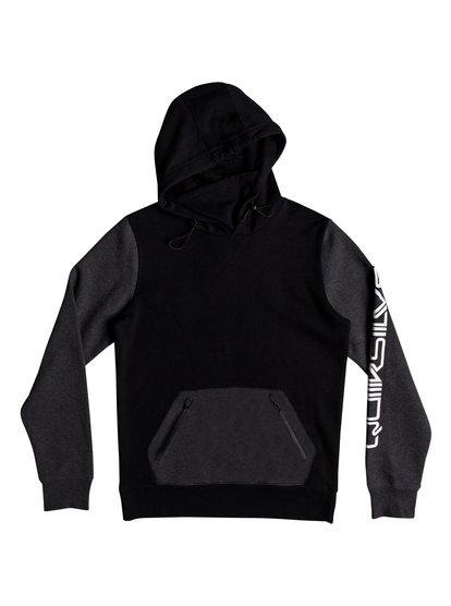 Big Logo - sweat à capuche technique pour homme - noir - quiksilver