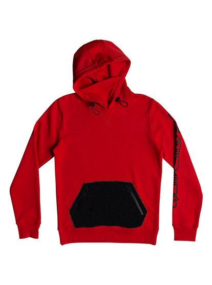 Big Logo - sweat à capuche technique pour homme - rouge - quiksilver