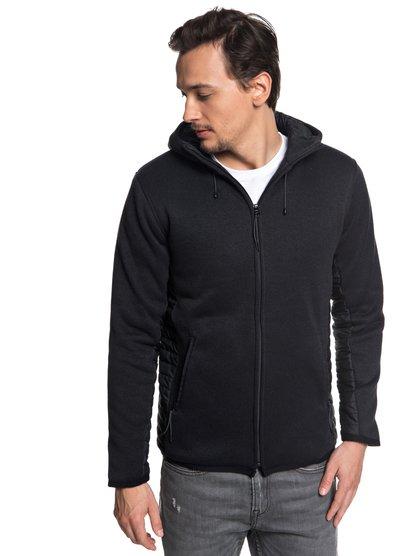 Keller Puff - Sweat à capuche zippé en polaire pour Homme - Noir - Quiksilver