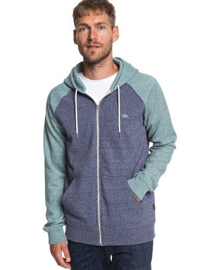Everyday - sweat à capuche zippé pour homme - bleu - quiksilver