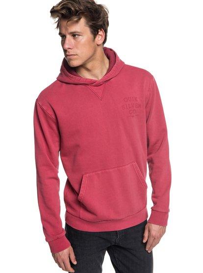 Aso Plains - sweat à capuche pour homme - rouge - quiksilver