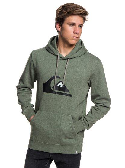 Big Logo - sweat à capuche pour homme - marron - quiksilver