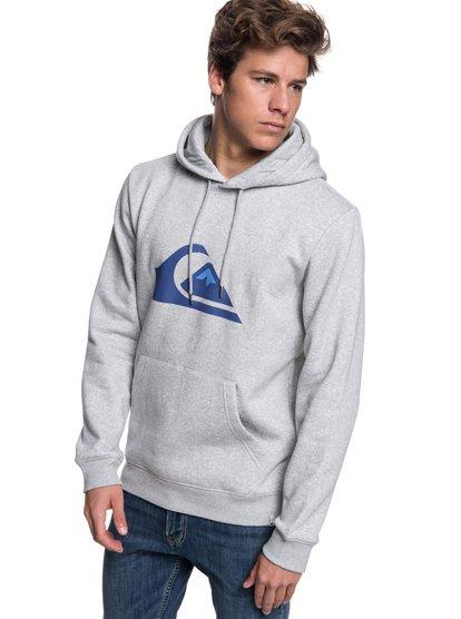Big Logo - sweat à capuche pour homme - gris - quiksilver