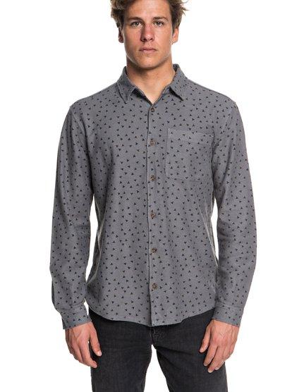 Baao - chemise à manches longues pour homme - noir - quiksilver