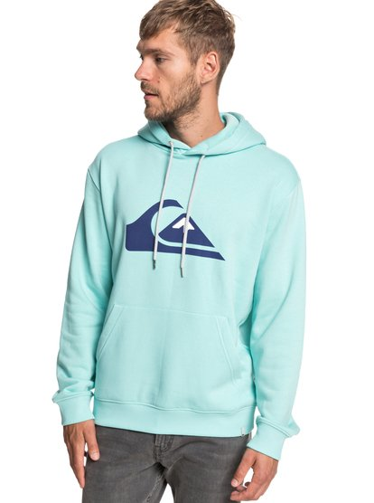 Big Logo - sweat à capuche pour homme - bleu - quiksilver