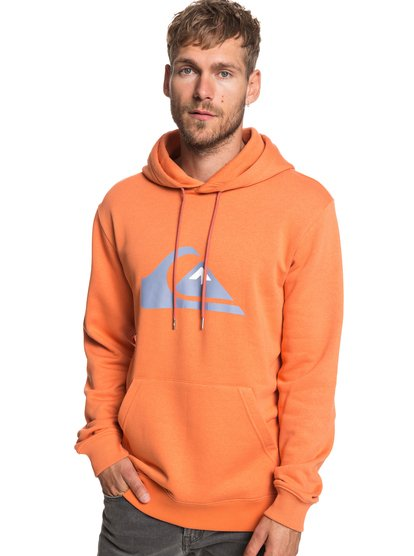 Big Logo - sweat à capuche pour homme - orange - quiksilver