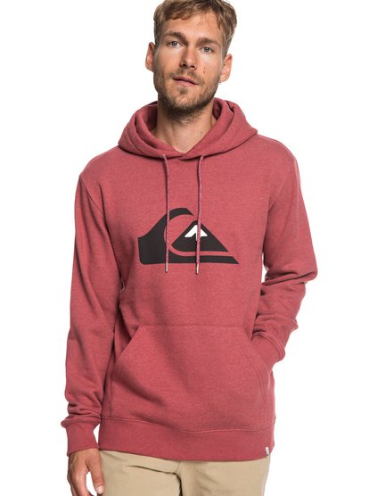 Big Logo - sweat à capuche pour homme - rouge - quiksilver