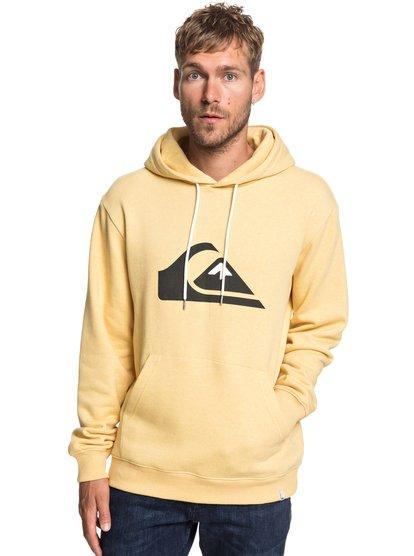Big Logo - sweat à capuche pour homme - jaune - quiksilver