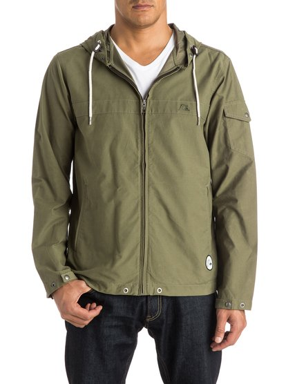 Mens Shoreline Parka JacketМужская куртка-парка Shoreline от Quiksilver. <br>ХАРАКТЕРИСТИКИ: плотная полусинтетика, стандартный крой, два плоских прорезных кармана, карман на рукаве. <br>СОСТАВ: 68% хлопок, 32% нейлон.<br>