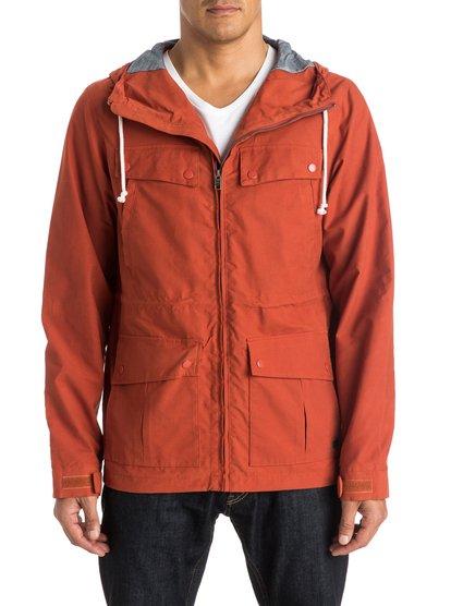 Mens Seashore Parka JacketМужская куртка-парка Seashore от Quiksilver.ХАРАКТЕРИСТИКИ: плотная полусинтетика, стандартный крой, два накладных кармана, два нагрудных кармана.СОСТАВ: 68% хлопок, 32% нейлон.<br>
