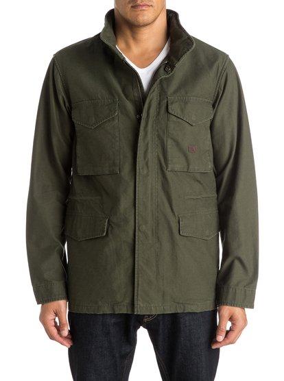 Mens Rochford Parka JacketМужская куртка-парка Rochford от Quiksilver.ХАРАКТЕРИСТИКИ: стиль «милитари», хлопчатобумажная саржа обратной вязки, подкладка с принтом (включая капюшон), два нагрудных и два передних кармана.СОСТАВ: 100% хлопок.<br>