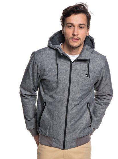 Brooks 5k - veste à capuche imperméable pour homme - gris - quiksilver