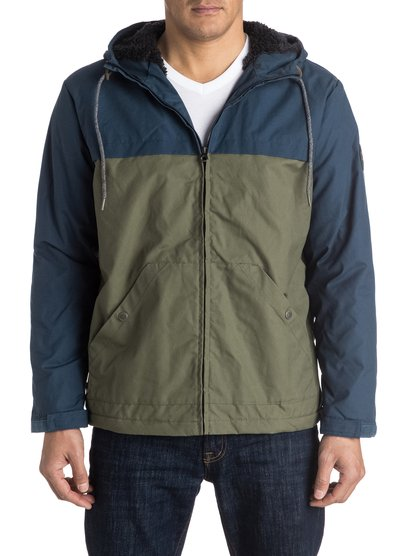 Куртка мужская Wanna BlockThe Wanna Block jacket for men comes with a durable water repellent treatment and features an easy-to-wear regular fit that allows space to layer. The colour-block styling is complemented by a warm sherpa lining and on the cuffs for a snug fit.<br>