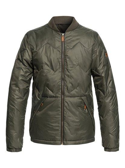 Cruiser - veste chaude déperlante pour homme - marron - quiksilver